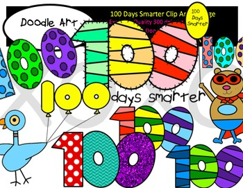100 Days Smarter Clipart Pack
