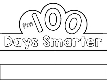 It's just a photo of Accomplished 100 Days Smarter Printable
