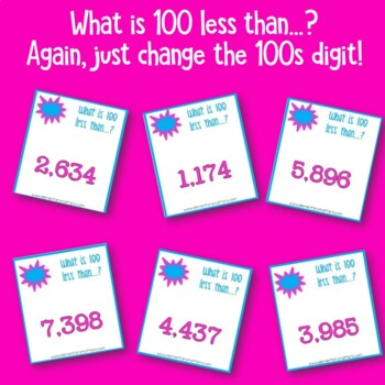 Mental Math   Adding and Subtracting 100 to 4 digit Numbers
