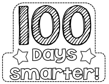It's just a graphic of Transformative 100 Days Smarter Printable
