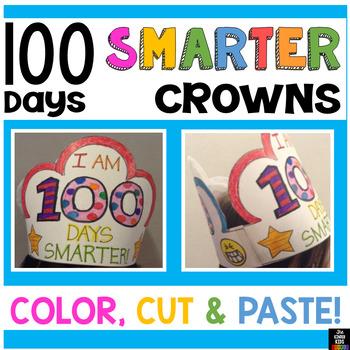 image regarding 100 Days Smarter Printable known as 100 Times Smarter Hat