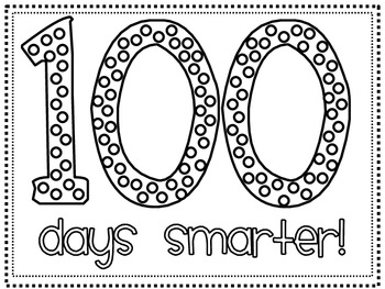 100 days smarter hat printable freebie by hannah martin tpt