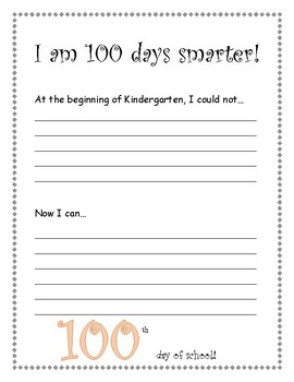 100 Days Smarter Writing paper