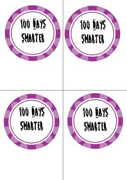 100 Days Smarter tags for Smarties