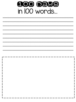 100 Days Writing Activity- FREEBIE