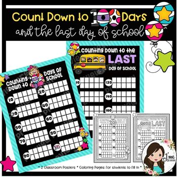 100 Days and Last Day of School Countdown