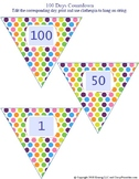 100 Days countdown pennants!  Back to school craft activity