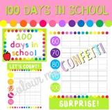 100 Days in School Chart - Colour me Confetti