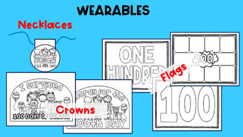 100 Days of Fun {Flags, Headbands, Necklaces and more!}