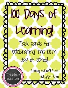 Task Cards for the 100th Day of School {100 Days of Learning!}