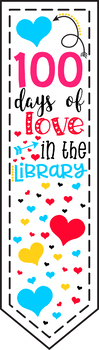 100 Days of Love in the Library Bookmark