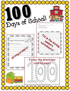 100 Days of School Activities!!