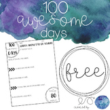 100 Days of School Activity - FREE