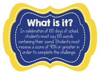 100 Days of School Articulation Challenge