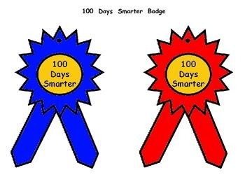 100 Days of School Badge