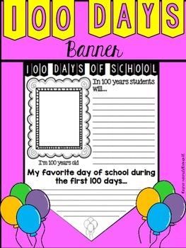 100 Days of School Banner
