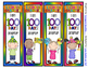 100 Days of School Bookmarks - 4 Designs -2 sayings to cho