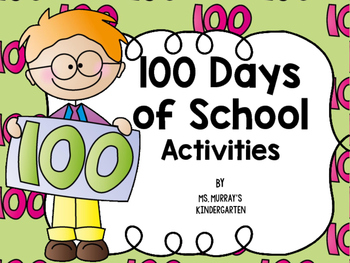 100 Days of School Centers