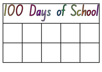100 Days of School Chart