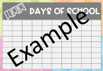 100 Days of School Chart water colour