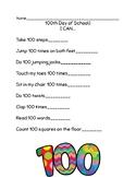 100 Days of School Checklist
