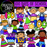 100 Days of School Clipart {Creative Clips Clipart}