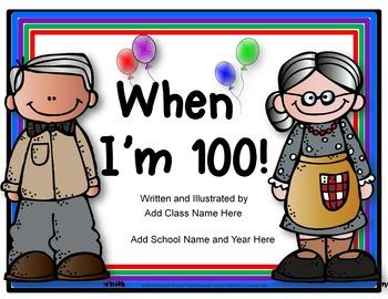 100 Days of School Collaborative Writing {Editable}