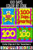 100 Days of School Color by Code Templates {Scrappin Doodles}
