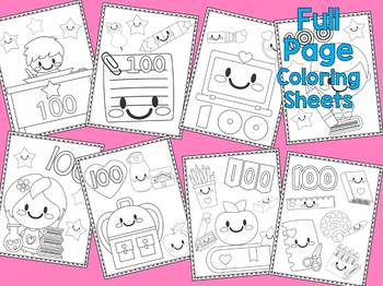 100 Days of School Coloring Pages - The Crayon Crowd, 100th Day