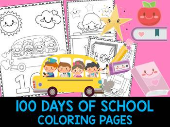 100 Days Of School Coloring Sheet Worksheets Teaching Resources Tpt