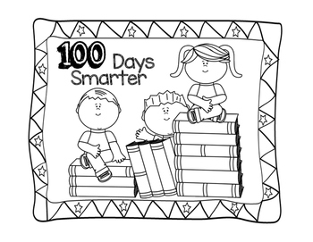 100 Days Of School Colouring Pages Printables By Mrsklassensjungle