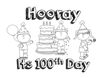 100 Days of School Colouring Pages Printables