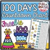 100 Days of School Countdown Chart ♥ Freebie! ♥ Ten Frames - Incorporate Math! ♥