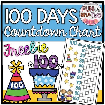 photo relating to 100 Day Countdown Printable referred to as 100th Working day Of Higher education Countdown Chart Worksheets Schooling