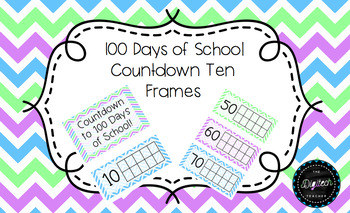 photo regarding 100 Day Countdown Printable named 100 Times of Faculty / 100th Working day Countdown 10 Frames