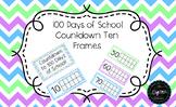 100 Days of School / 100th Day Countdown Ten Frames