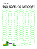 100 Days of School Countdown Write Numbers or Color Kindergarten 100th Day Math