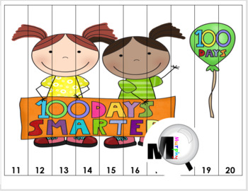 100th Day of School Counting Puzzle Activities - Numbers 1-100 {100 Days}