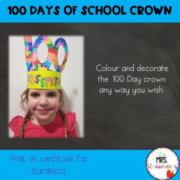 100 Days of School Crown