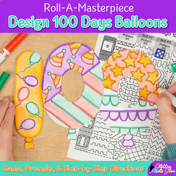 100th Day of School   Design Hundred Balloons Project & Art Sub Plan & Project