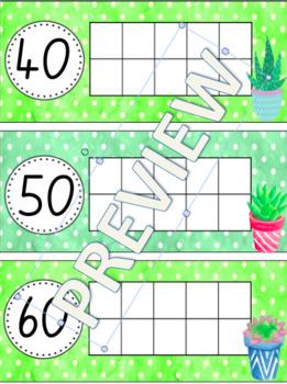 100 Days of School Display- Cactus / Succulent Theme