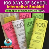 100 Days of School   Interactive Booklet   Printables