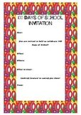 100 Days of School Invitation