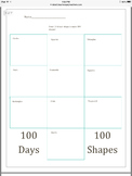 100 Days of School Kindergarten Packet