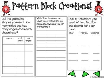 100 Days of School Math Fun with Pattern Blocks {100th Day of School}