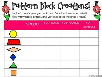 100 Days of School Math Fun with Pattern Blocks {100th Day of School}