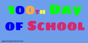 100 Days of School Math (Google Slides)