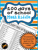 100 Days of School Math Riddle