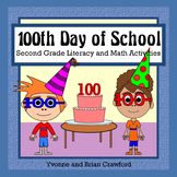 100th Day of School Math and Literacy Activities Second Grade Distance Learning