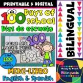 100 Days of School Mini-Book - Mini-Libro de los 100 Días de Escuela - Bilingual